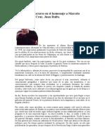 1980 Nov 17 Discurso en el homenaje a Marcelo Quiroga Santa Cruz-Juan Rulfo