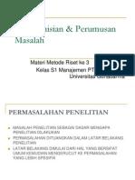 Pendefinisian & Perumusan Masalah