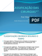 Classificacao das Cirurgias