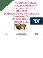 PUD 5TO ESTUDIOS SOCIALES DESAGREGADO
