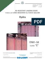 Catálogo Técnico Hydra  E  EN81-58