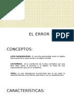 ACTO JURIDICO EL ERROR