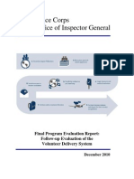 Peace Corps Volunteer Delivery System Follow-Up Final Program Evaluation IG1101E