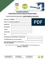 PLANILLA DE INSCRIPCION