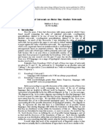 Why Statistical Universals are Better than Absolute Universals - Matthew S. Dryer 1998