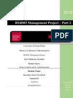 BS4D03 Management Project Part 2 - Reflective Portfolio - Kanishka Sauis Turrakheil