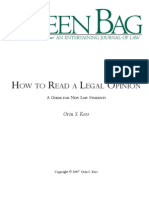 Orin S Kerr - How to Read a Legal Opinion