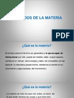 1. ESTADOS DE LA MATERIA 2020-01
