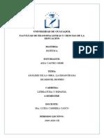 ANALISIS LITERARIO DE LA EMANCIPADA