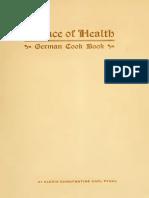 science of healthg German cook Book