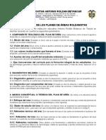 ESTRUCTURA DE LOS PLANES DE ÁREA ROLDANISTAS