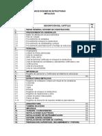 Indice  Dossier fabricación de Estructuras Metálicas