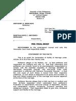 Pre-Trial Brief (annulment)