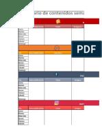 Plantilla Calendario de Contenidos