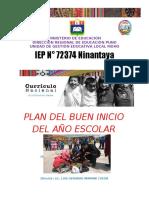 PLAN DEL BUEN INICIO ESCOLAR 2020