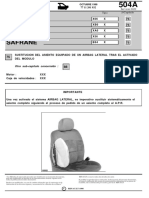 0504a Sustitucion Del Asiento Equipado de Un Airbag Lateral Tras El Activado