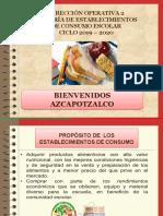 Presentacion de Establecimientos de Consumo Escolar 2019-2020