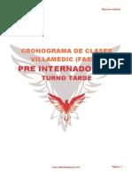 Pre Internado 2020 Anual T - Cronograma
