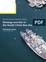 Strategy and Law in the South China Sea Disputes Workshop Report, Maritime Security Research Group, The University of New South Wales, Canberra