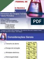 Grupos 7 e 8 da Tabela Periódica - Apresentação