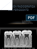Examen Radiográfico Del Periodonto Sano y Enfermo