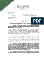 5. Complaint for Easement