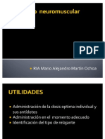 Monitoreo Del Bloqueo Neuromuscular