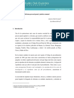 Reforma Procesal Penal y Justicia Comunal