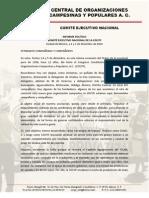Informe político, IV Asamblea Nacional_COCyP