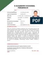 Eguizabal p. - Curriculum