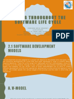 1.Testing Throughout The Software Life Cycle