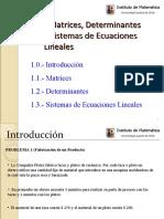 Matrices, Deter Min Antes y Sistemas de Ecuaciones