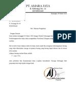 surat komplenan