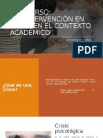 Curso Intervención en crisis en contexto académico