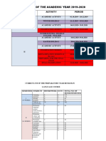 STRUCTURE OF PREPARATORY YEAR ROMANIAN LANGUAGE COURSE 2019-2020 (1)