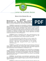 Executive Order No 13 (Council for the Protection of Children)