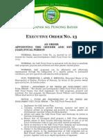 Executive Order No 14 (GAD Focal Person)