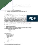 Algoritma Pemrograman Dengan Menggunakan C++(2)