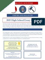 Essay Contest Flyer