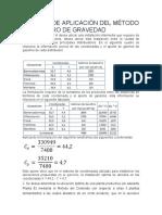 EJEMPLO DE APLICACIÓN DEL MÉTODO DEL CENTRO DE GRAVEDAD