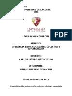 ANALISIS SOCIEDADES COLECTIVAS Y COMANDITARIAS (LEGISLACION COMERCIAL)