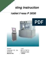 FETTE Compression Machine Double Rotary