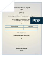 Dissertation Report Format 2018-2020 Batch
