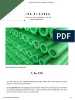 Pipa PPR Semua yang Perlu Anda Ketahui - Pipa Plastik.pdf