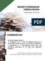 Hukum Acara Mahkamah Konstitusi - Peradilan Konstitusi