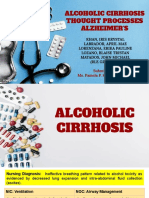 Alcoholic Cirrhosis Thought Processes Alzheimer's