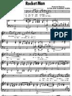(Sheet Music - Piano) Elton John - Rocket Man
