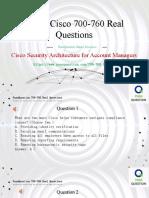 Cisco 700-760 Practice Test Questions