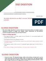 SLUDGE DIGESTION