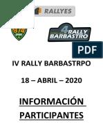 Información Participantes - IV Rally Barbastro (1)